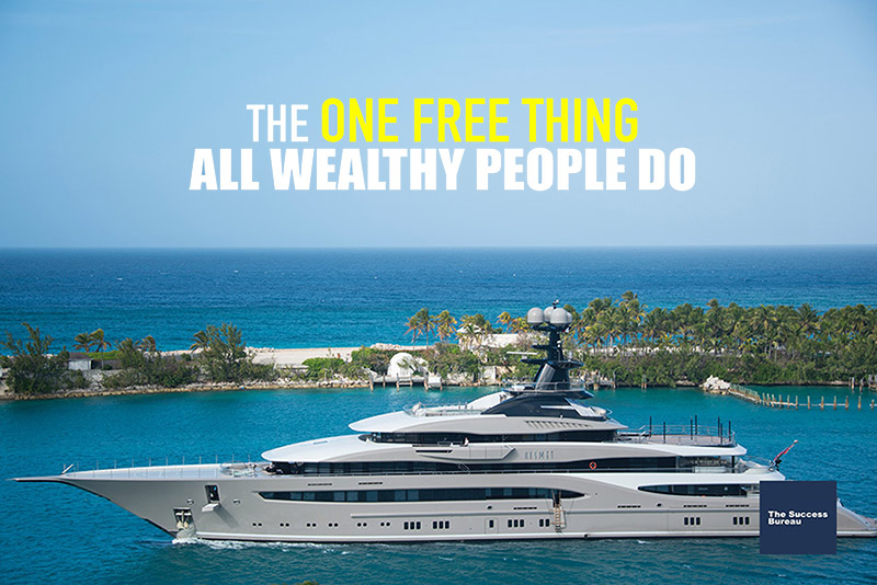 What's the one free pastime that wealthy people all have in common?